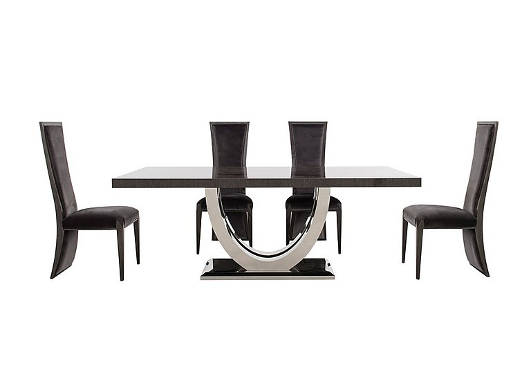 Allure Dining Table and 4 Lacquer Back Dining Chairs