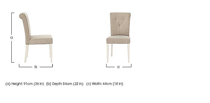 Annecy Pair of Upholstered Dining Chairs in  on FV