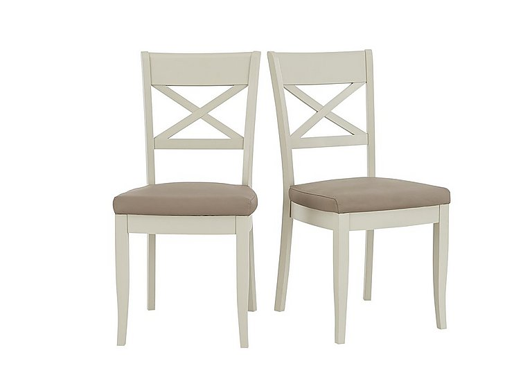 Annecy Pair of Cross Back Dining Chairs