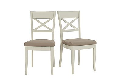 Annecy Pair of Cross Back Dining Chairs in  on FV
