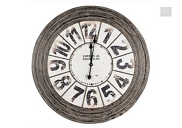 Antique Grey Metal Round Clock  in {$variationvalue}  on FV