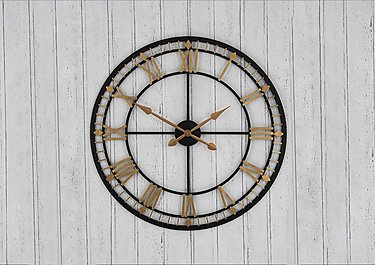 Antique Metal Wall Clock in  on FV