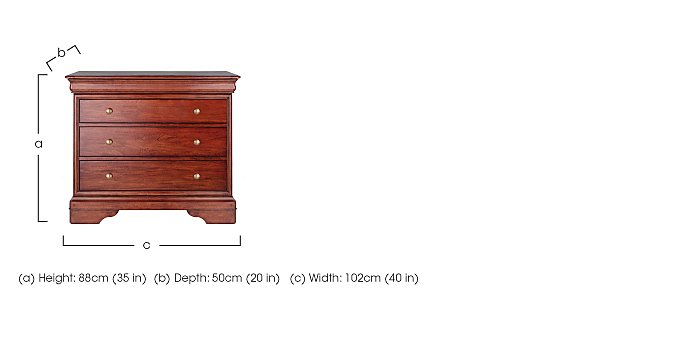Antoinette 3 Drawer Chest in  on Furniture Village