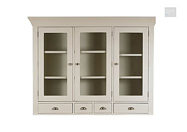 Arles Large 3 Door Glazed Hutch  in {$variationvalue}  on FV