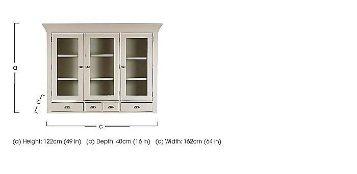 Arles Large 3 Door Glazed Hutch  in {$variationvalue}  on FV