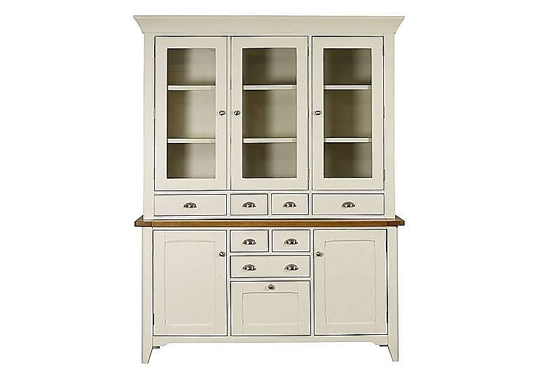 Arles Large 3 Door Sideboard with Glazed Hutch in  on FV