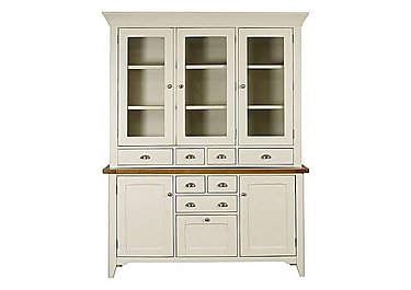 Arles Large 3 Door Sideboard with Glazed Hutch