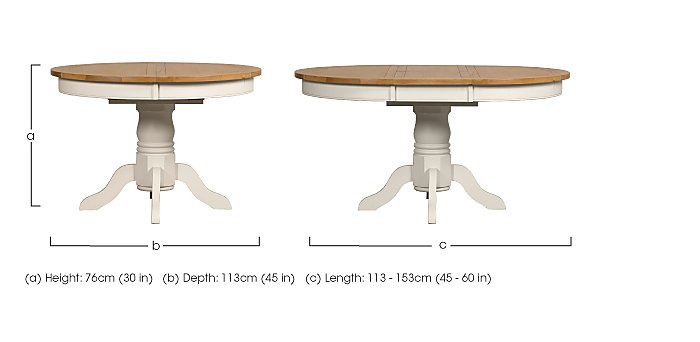 Arles Round Extending Dining Table - Furniture Village