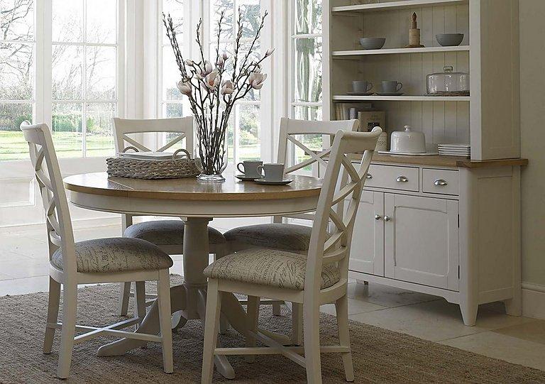 Furniture Village Dining Tables arles round extending dining table - furniture village