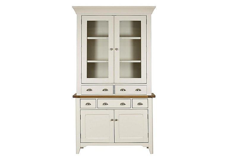 Arles Small 2 Door Sideboard with Glazed Hutch