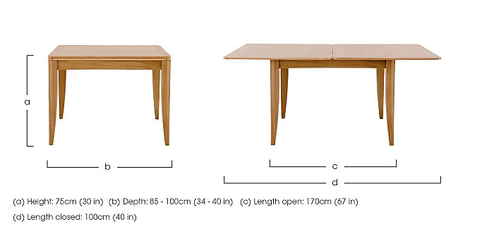 Artisan Flip-Top Extending Dining Table in  on FV