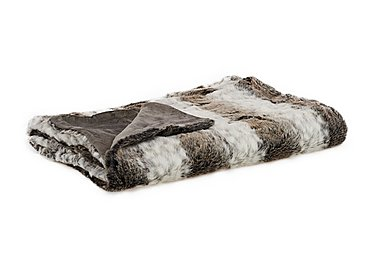 Arctic Stripe Faux Fur Throw in  on Furniture Village
