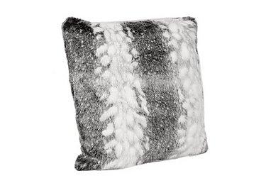 Arctic Stripe Faux Fur Cushion