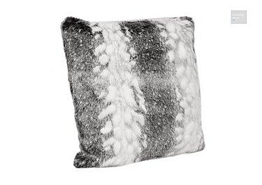 Arctic Stripe Faux Fur Cushion  in {$variationvalue}  on FV
