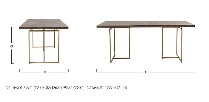 Art Deco Dining Table in  on Furniture Village