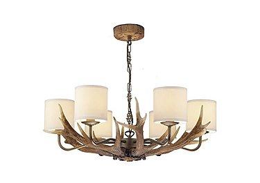 Antler Rustic 6 Light Pendant in  on Furniture Village