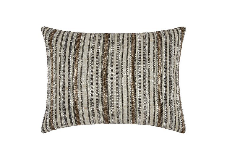 Beaded Stripes Cushion in  on FV