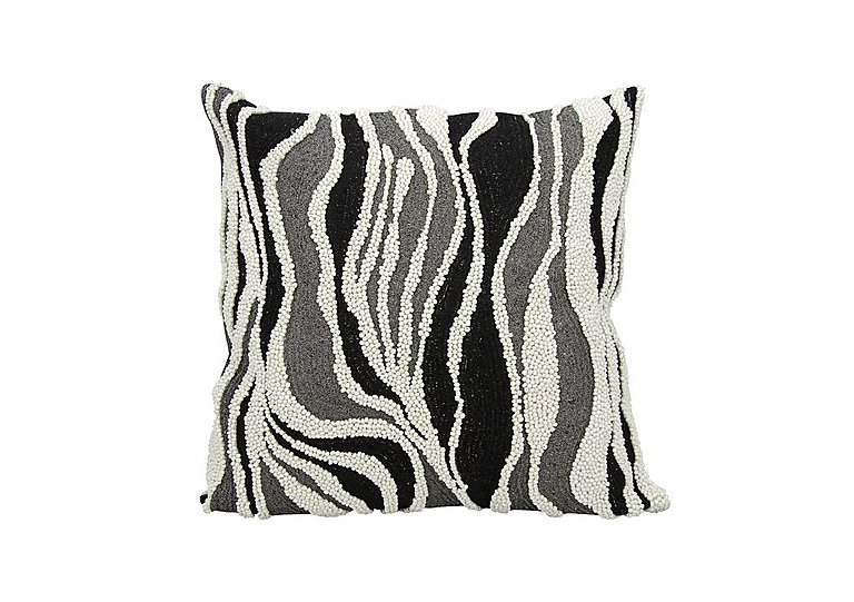 Beaded Zebra Cushion in  on FV