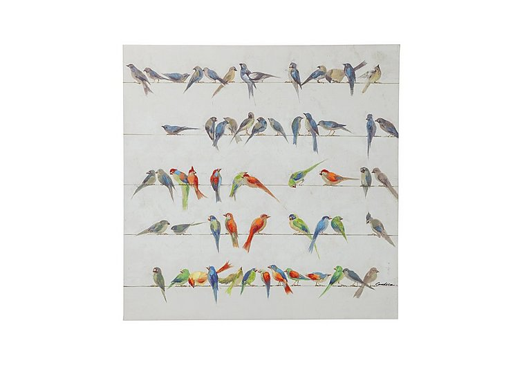 Touched Birds Meeting Canvas Picture Square in  on FV