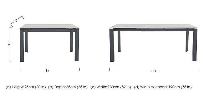 Baron Extending Dining Table in  on FV