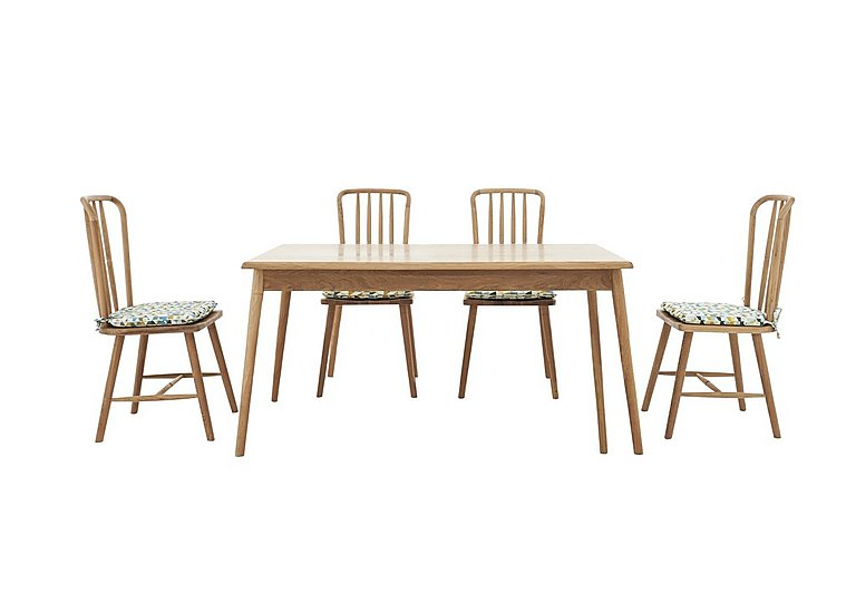 Battersea Fixed Dining Table and 4 Chairs
