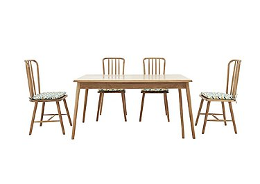 Battersea Fixed Dining Table and 4 Chairs in  on FV