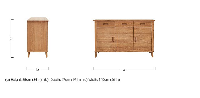 Battersea 3 Door Sideboard in  on Furniture Village