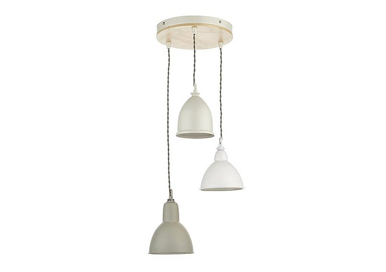 Blyton 3 Light Pendant in  on FV
