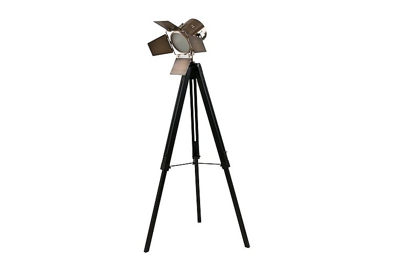 Black Wood Tripod Floor Lamp in  on FV