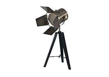 Black Wood Tripod Table Lamp in  on FV