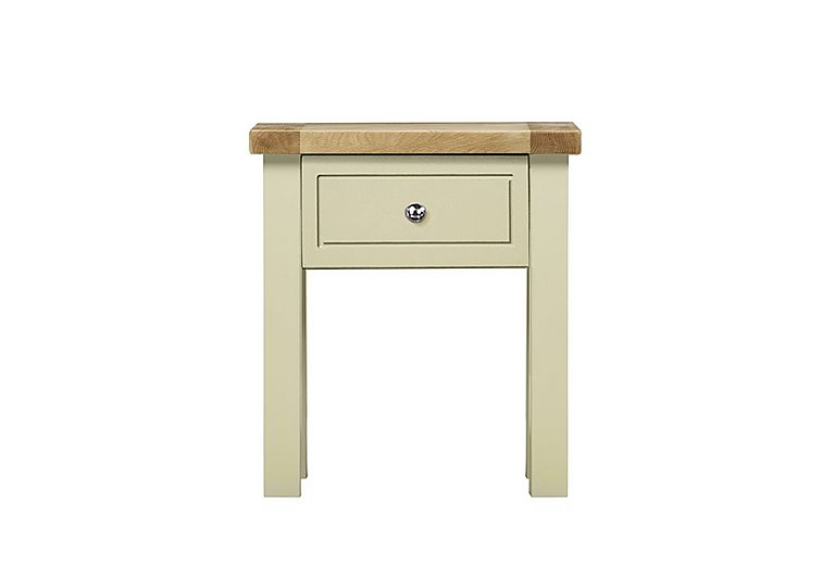 Bordeaux Painted Oak Lamp Table with Drawer in  on Furniture Village