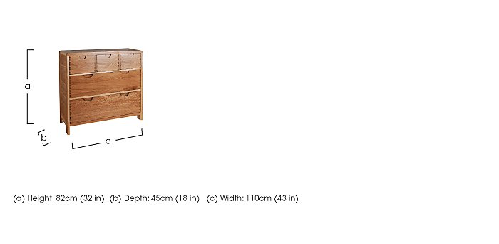 Bosco 5 Drawer Wide Chest in  on Furniture Village