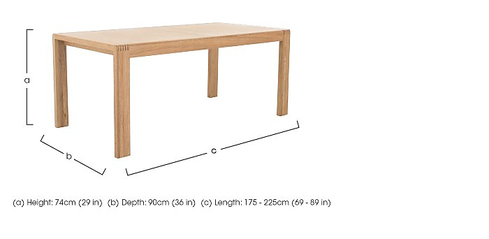 Bosco Medium Extending Dining Table in  on Furniture Village