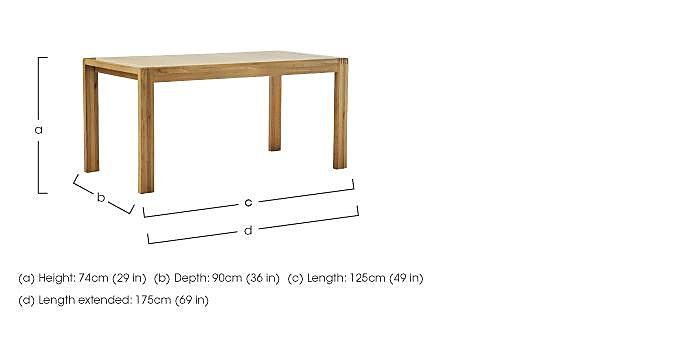 Bosco Small Extending Dining Table in  on FV