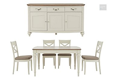 Annecy Extending Dining Table and 4 Chairs With Sideboard  in {$variationvalue}  on FV