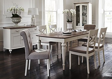 Annecy Extending Dining Table and 4 Upholstered Chairs in  on FV