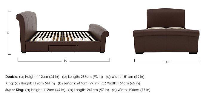 Delaney King Size Bed Frame & Presto Memory Pocket 1000 Mattress in  on FV