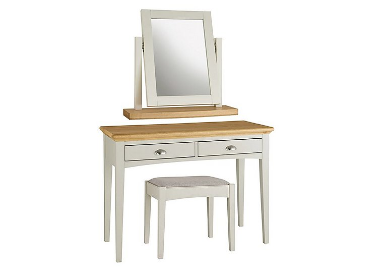 Emily Dressing Table, Vanity Mirror and Stool in  on FV