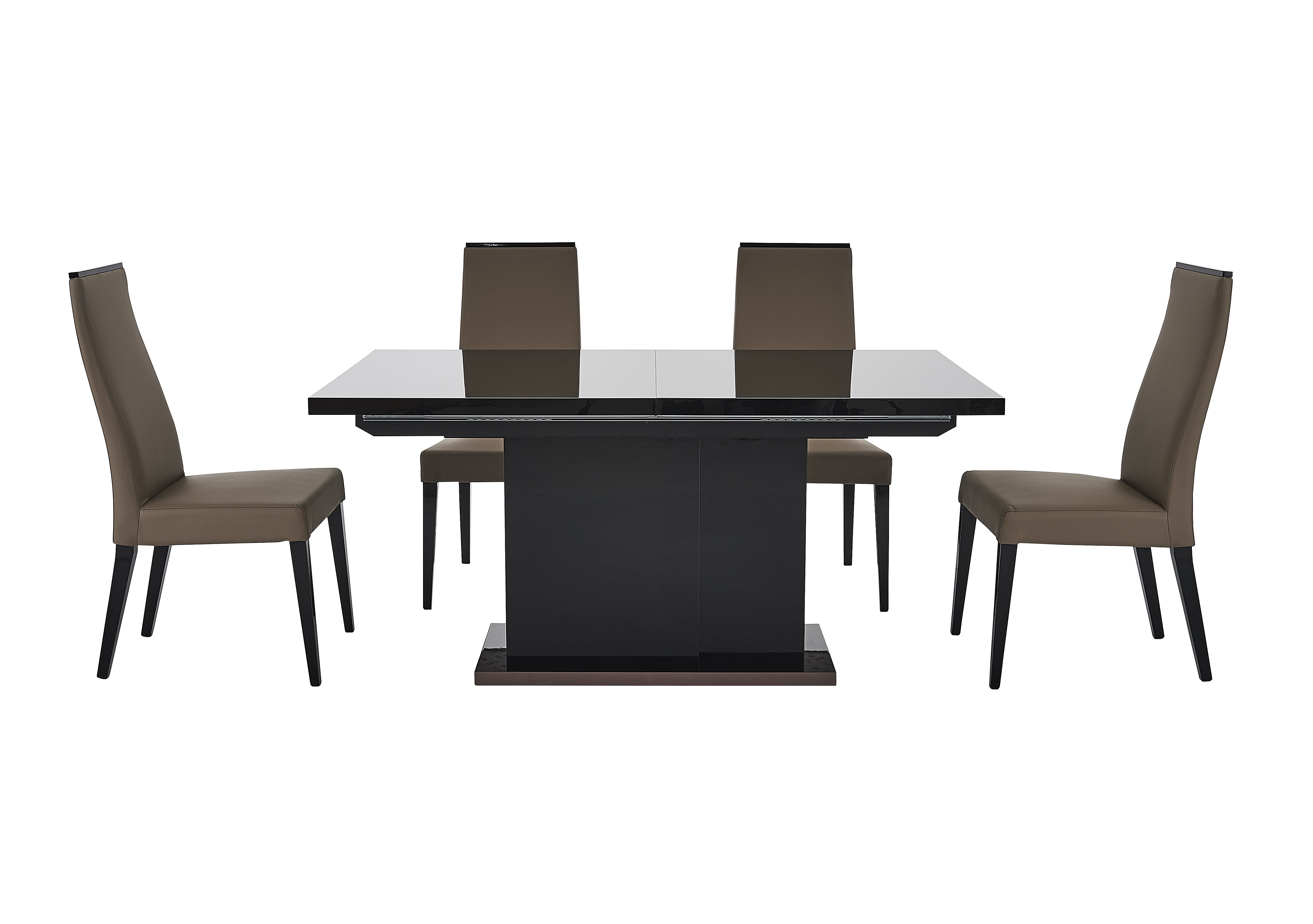Furniture Village Glass Dining Table marco polo extending dining table and 4 chairs - alf - furniture