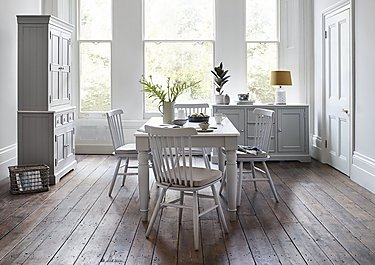 Padstow Dining Table, 4 Spindle Chairs and Large Sideboard Set in  on FV