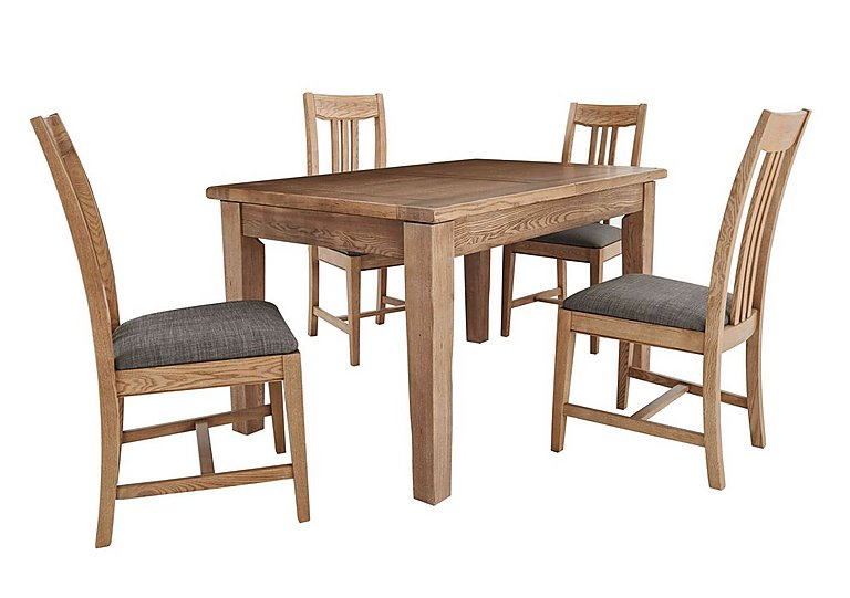 Provence Extending Oak Table 4 Chairs Furnitureland – Oak Table Chairs