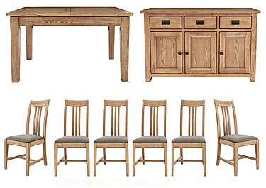 Provence Table and 6 Chairs with Sideboard