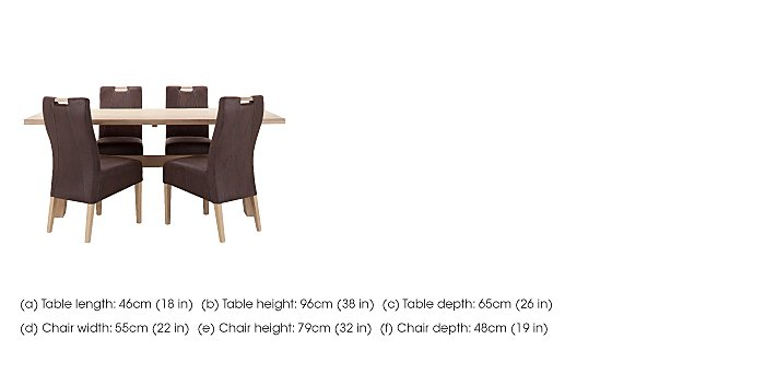 Winsgate Dining table and 4 chairs  in {$variationvalue}  on FV