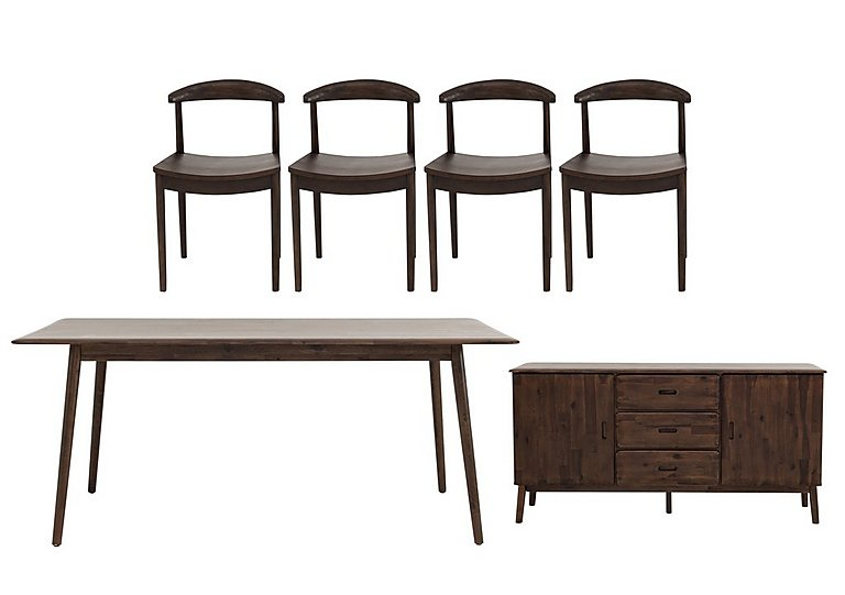 Cosmo Table and 4 Chairs & Sideboard