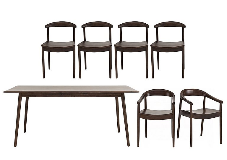 Cosmo Table, 4 Chairs and 2 Armchairs