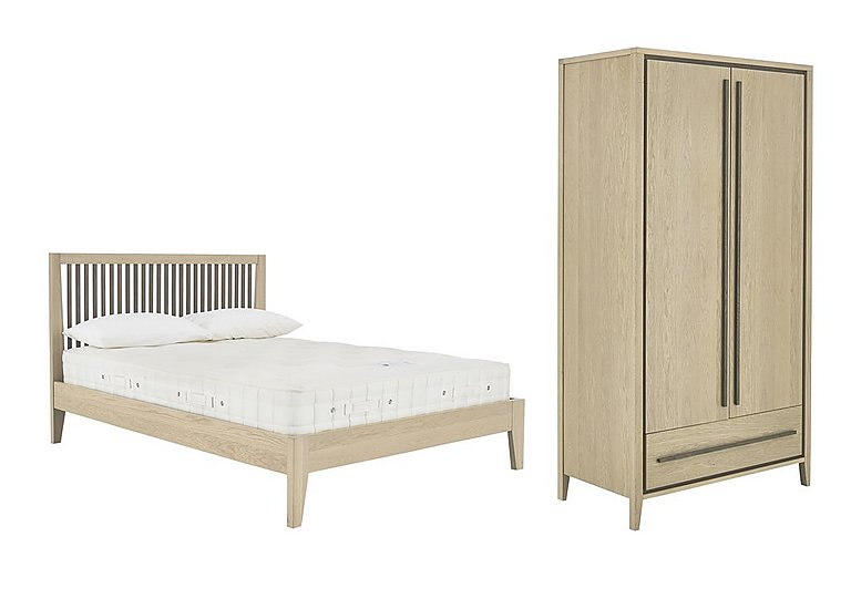Durrell 5ft Bed Frame & Wardrobe in  on FV