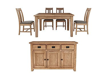 Provence Dining Table and 4 Chairs with Sideboard Set in  on FV