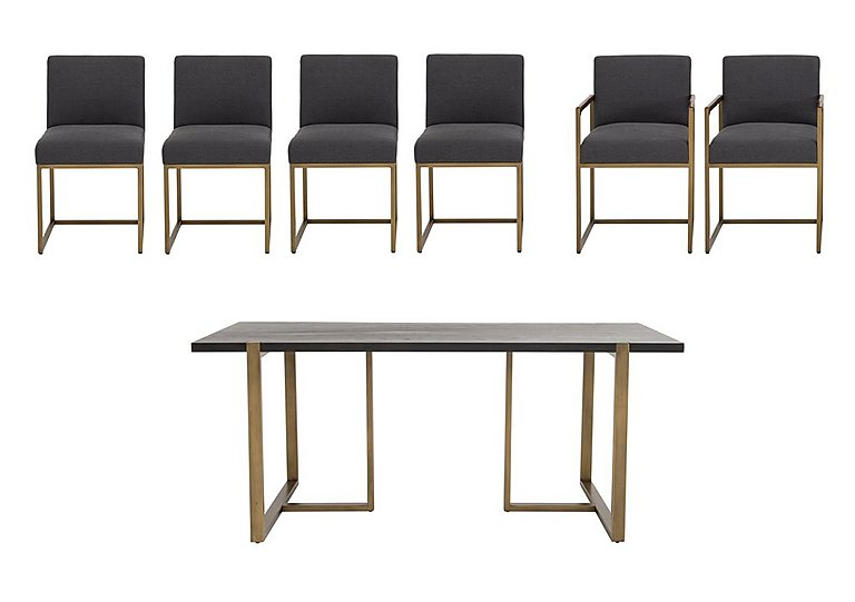 Vogue Dining Table, 4 Chairs & 2 Armchairs