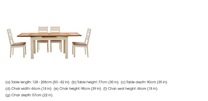 Compton Extending Dining Table and 6 Slatted Chairs