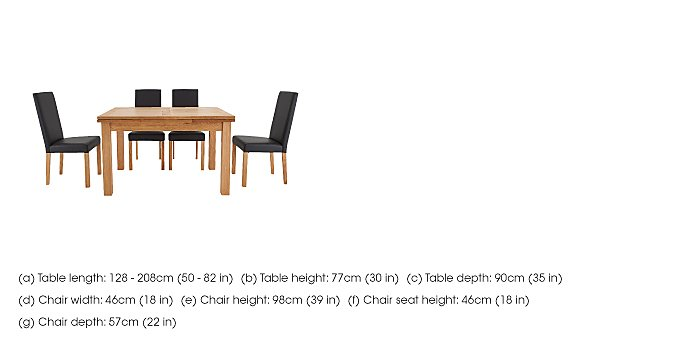 Compton Oak Extending Dining Table and 6 Upholstered Chairs in  on FV